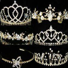 SALE Prom Bridesmaid Wedding made with Swarovski Crystal Gold Plated Tiara T038G
