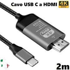 Cavo USB C a HDMI 4K@60Hz USB 3.1 Tipo C Type per Macbook Pro iMac Huawei Mate10
