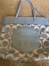 COACH Signature Logo  Handbag Large Purse  Blue  Logo