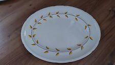 Vintage Swinnertons Majestic Vellum Large 37x29cms Oval Platter Yellow Leaf VGC