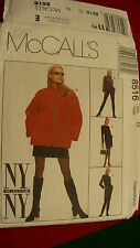 Sewing pattern McCalls New York Collection Jacket pants skirt No 8516 Size 4 16