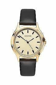 Sekonda Men's Classic Gold Case Leather Strap Watch 1529
