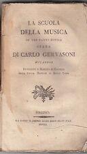 LA SCUOLA DELLA MUSICA IN TRE PARTI DIVISA, Carlo Gervasoni, Piacenza 1800 MC3.5