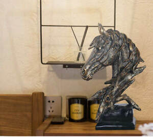New 1Pcs Sculpture Horse Head Abstract Ornaments Decoration For Home Handcrafts