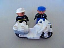Duplo   motorcycle   policeman  fireman white police motorcycle