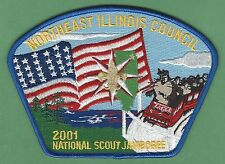 NORTHEAST ILLINOIS COUNCIL 129 2001 NATIONAL JAMBOREE BOY SCOUT CSP PATCH S33