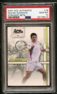Novak Djokovic #16 ROOKIE Ace Authentic 2007 Straight Sets PSA 10 GEM MINT