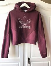 Adidas Originals Hoodie für Damen Adicolor Trefoil Rot  FM3298