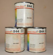 New listing 3 Chroma-Chem 844 Titanium White Colorant for Industrial Coating 32oz Cans