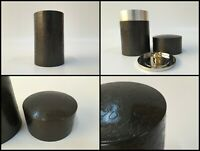Japanese Tin Tea Leaf Storage Case Chaire Vintage Signed Sencha Matcha D207