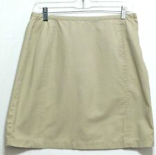 Emanuel Liberte Ladies Khaki Cotton Short Side Zipper Skirt - Size 10