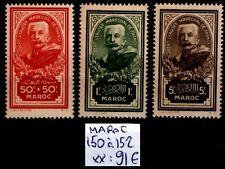 MAROC : Série 150 à 152, Neufs **  = Cote 91 € / Lot Timbres COLONIES