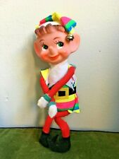 Rainbow Vintage 1960's Japan Christmas Pixie Elf Knee Hugger Shelf Sitter