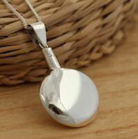925 Sterling Silver Cremation Ashes Keepsake Pendant Necklace Chain UK Seller