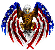 """American Eagle American Flag Wall Decor Decal is 24""""x 24"""" in size. FREE SHIPPING"""