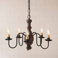 Lancaster 5 arm Primitive Chandelier in Espresso w/ Salem Brick