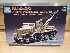 trumpete 1/72 sdkfz.9/1 drehkran 6t auf zugkraftwagen 18t model kit