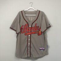 Chipper Jones Atlanta Braves Majestic Performance Apparel MLB Jersey Size 50