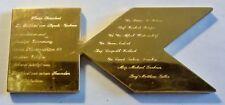 UNIKAT Plakette Messing vergoldet, verliehen 1988, hergest.vom Juwelier A.E.Köch