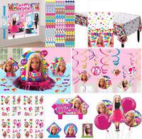 Barbie Sparkle Girls Birthday Party Supplies Decoration Favors Tableware Swirls