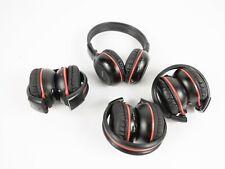 Simolio Black/Red Wireless CAR Headphones for Kids