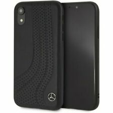Genuine Mercedes Leather BOW II Black Case for iPhone X & XS