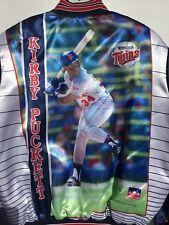 Rare VTG 80s Minnesota Twins KIRBY PUCKETT Starline Satin Jacket XL HOF Member