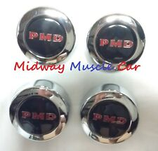 NEW black PMD rally 2 II wheel center cap set 67 68 69 70 Pontiac GTO Firebird