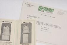1927 Lamson Goodnow Ames Bag Co Sacks Brochure Cleveland OH Letter Ephemera L32E