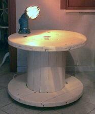 TAVOLINO DESIGN  STILE INDUSTRIALE CON LAMPADA NAVALE
