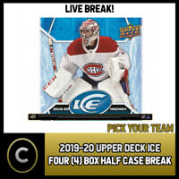 2019-20 UPPER DECK ICE HOCKEY 4 BOX (HALF CASE) BREAK #H798 - PICK YOUR TEAM