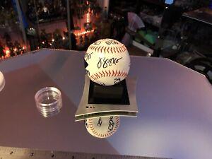 Star Trek Deep Space Nine Sisko Niners Signed Baseball and Desk Stand Replica