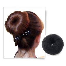 Accessori neri per l' acconciatura dei capelli donna tessuto