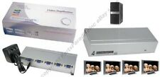 4way/Port SVGA/VGA Amplifier/Amp Duplicater/Multiplexor/Splitter PC/TV/Projector