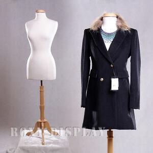 Female Size 10-12 Mannequin Dress Form Display #F10/12W+BS-01NX+ Cap-M42NRX