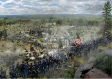 Gettysburg canvas Print/Frame Ellsworth Avenged 44th NY Civil War