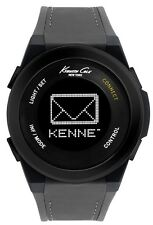 KENNETH COLE NY CONNECT SMART MEN'S WATCH GREY SILICONE STRAP 10022806 NEW