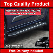 MERCEDES VITO W639 03-14 COMPACT & LONG BLACK SIDE STEPS RUNNING BOARD SIDE BARS