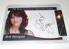 258 West Signature Series BRIT MORGAN Autograph Trading Card #380/500 True Blood