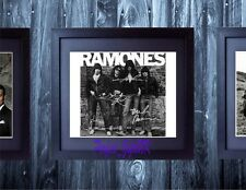 THE RAMONES SIGNED FRAMED & MOUNTED 10x8 REPRO PHOTO