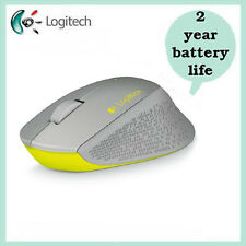 Logitech M330 Silver/Yello SILENT PLUS Wireless Mouse 910004908 + Free Shipping