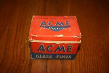 VINTAGE ACME FUSE TIN LOT OF 20 WITH ORIGINAL CARTON RARE FIND MINT CONDITION