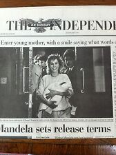 Original unread First Edition Independent on Sunday 28th January 1990 COMPLETE
