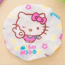 2pcs Cute Hello Kitty Shower Cap Waterproof Shower Hat Oil Anit Dust Caps