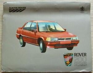 ROVER 200 SERIES Car Press Media Pack Photos June 1984 213 213S 213SE 213VDP