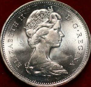 Uncirculated 1966 Canada Silver 25 Cents Foreign Coin
