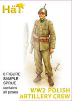 HaT 8157 WW2 Polish Artillery Crew 1/72 Model Soldiers Kit - 1 SPRUE 8 figures