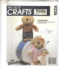 Berenstain Bears Brother Sister Dolls Stuffed Toys McCalls Pattern 9326 Uncut