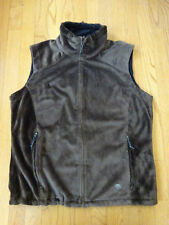 Women's Mountain HardWear Brown Fleece Windstopper Vest Size L