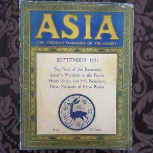 Sep 1921 ASIA Magazine ORIENT Soviet Russia Ukraine RUSSIAN Peasants Japan China